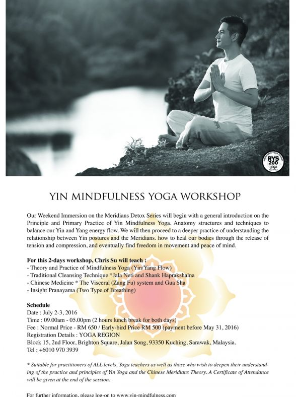 Yin Mindfulness Immersion Yoga Workshop, Training & Retreat